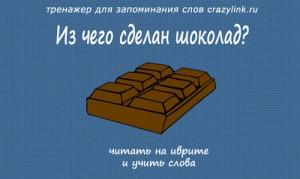 Из чего сделан шоколад?