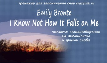 Emily Bronte - I Know Not How It Falls on Me
