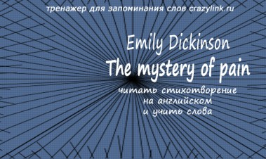 Emily Dickinson - The mystery of pain